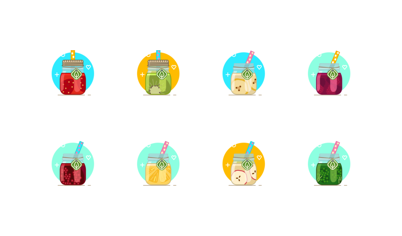 Smoothie Drinks icons by Yumminky