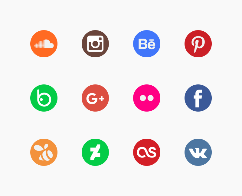 Social Media icons by Iconscout Store
