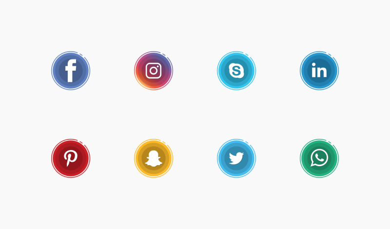 Social Media shadow Icons by Aarthi Padmanabhan