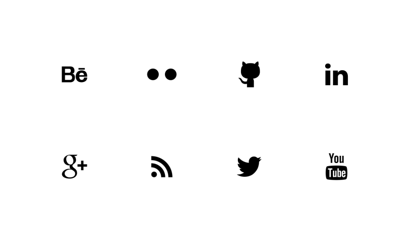 Social Media tiny icons by Alfredo Hernandez