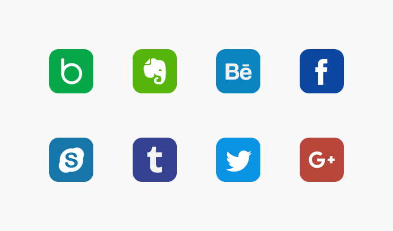 Social Network Company icons by Bigg Boss Icon Store