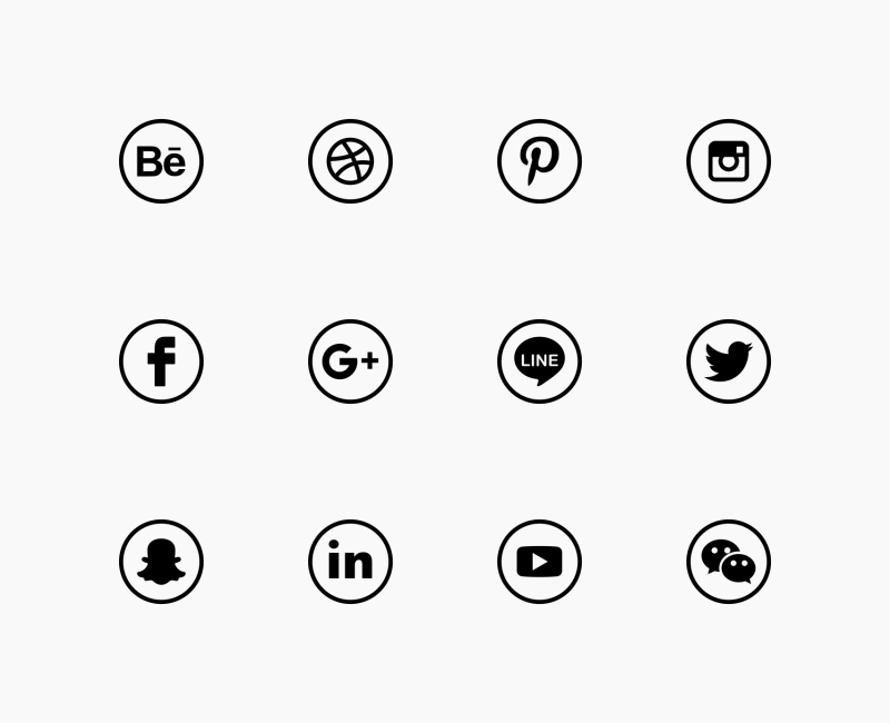 Social media round icons by Chanut Is Industries