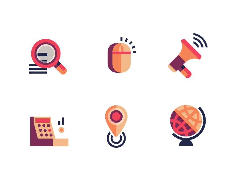 Sprike SEO icons by Kris Howes