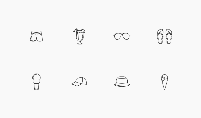 Summer Holidays icons by Sergey Tikhonov