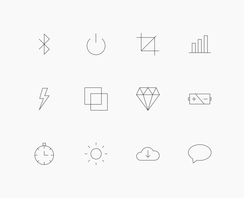 Thin line User Interface UI icon pack by Linseed Studio