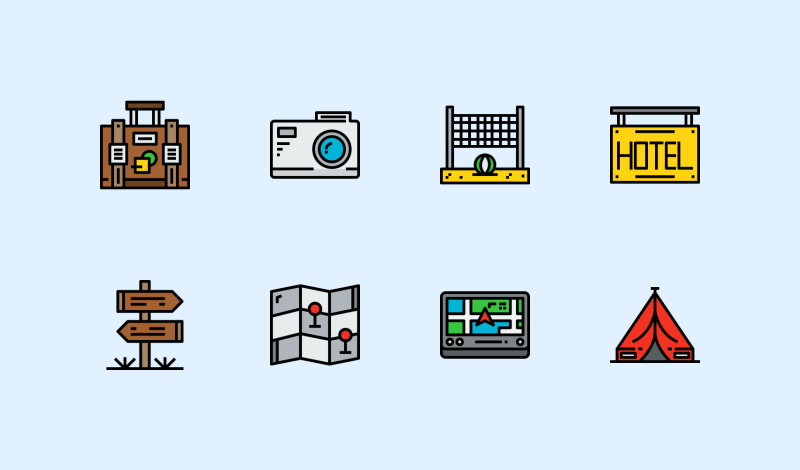 Travel and Holiday icons by Unlimit Icon