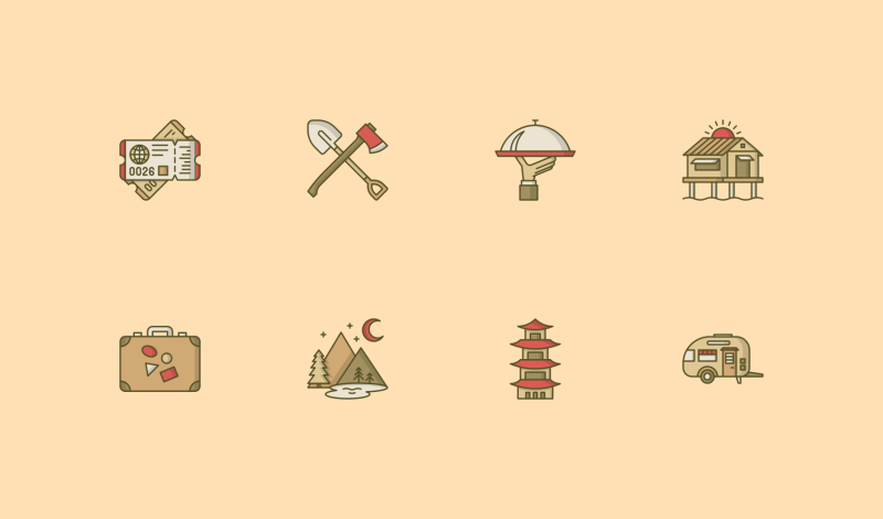 Travel and Hotel icons by Danil Polshin