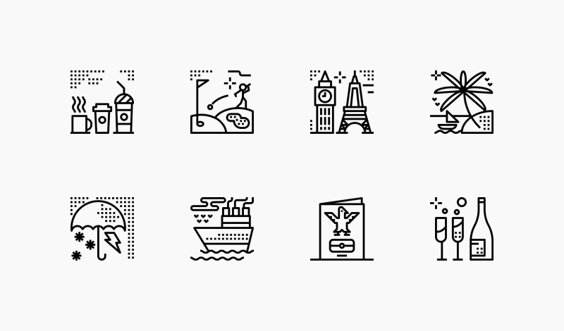 Travel and Places icon collection by Becris