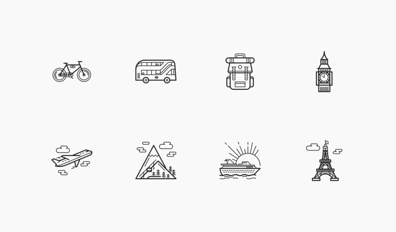 Travel and Places icons by Danil Polshin