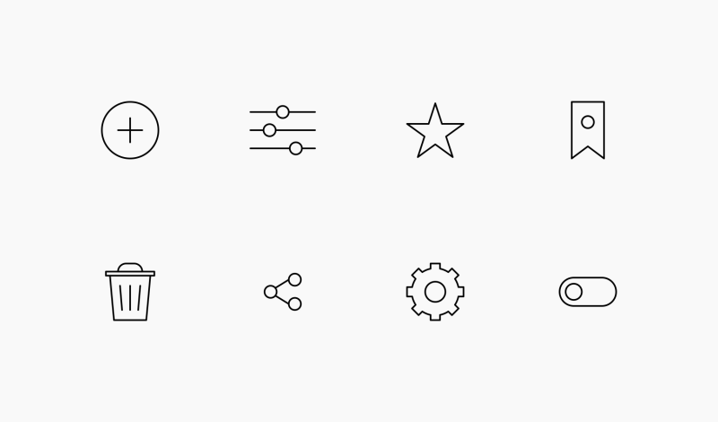 UI Elements icon collection by Danil Polshin