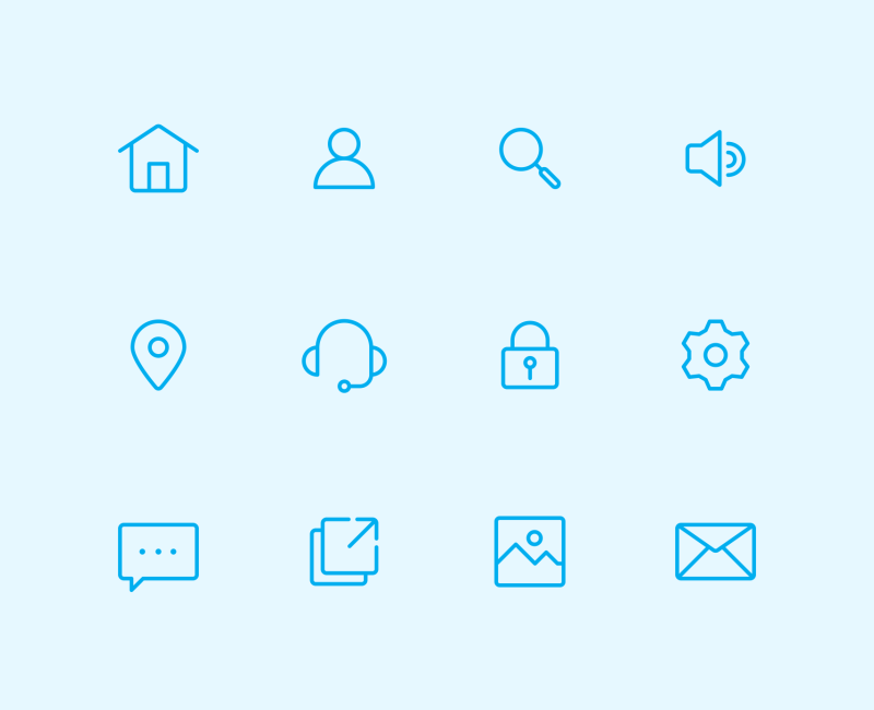 User Interface Line icon collection by Inipagi Studio