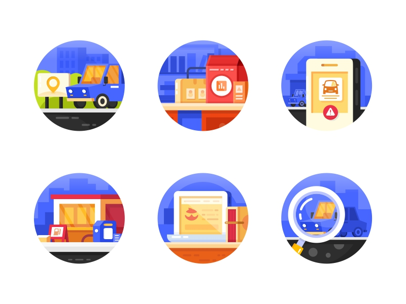 Vehicle Traffic icon set by SA9527