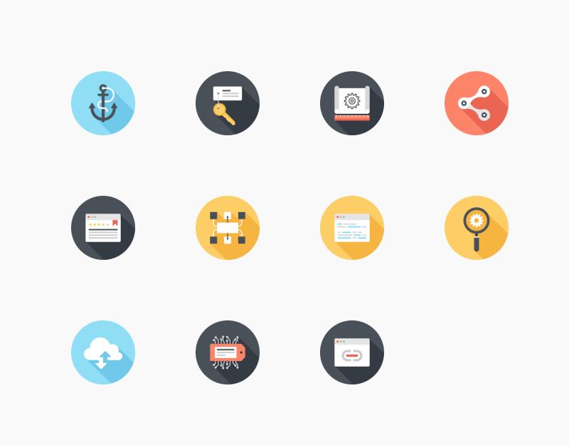 Web SEO and Development icon set by Maxim Basinski
