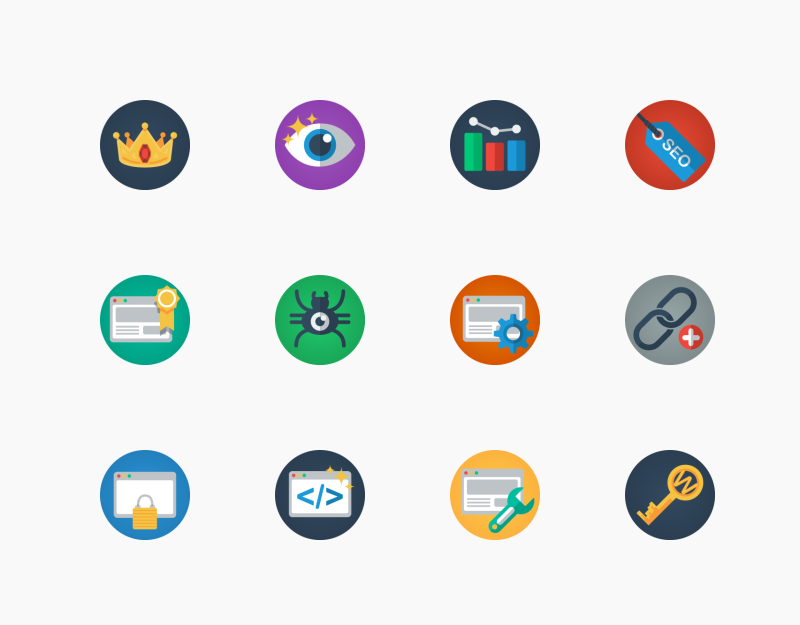 Web and SEO icon pack by Flat- Icons