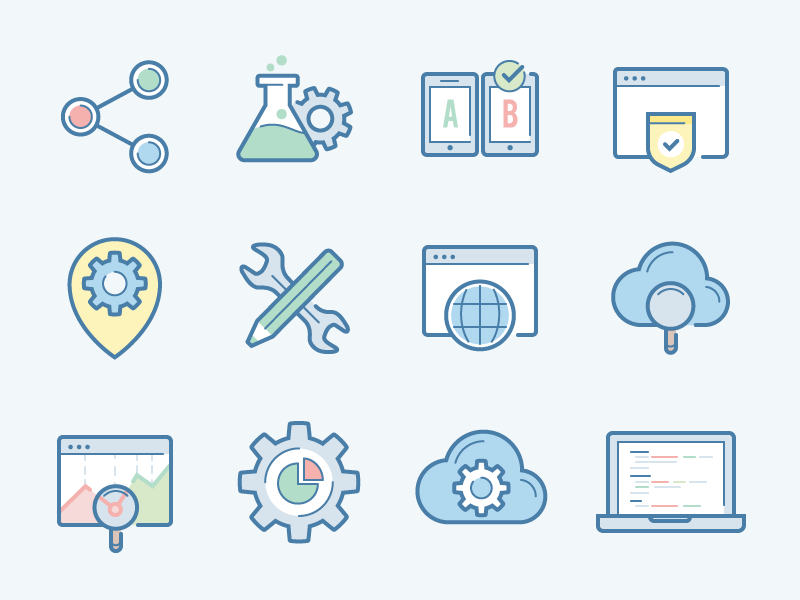 Web and SEO icon set by Laura Reen