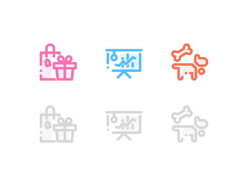 Accommodation minimalist icons by Catherine Wang
