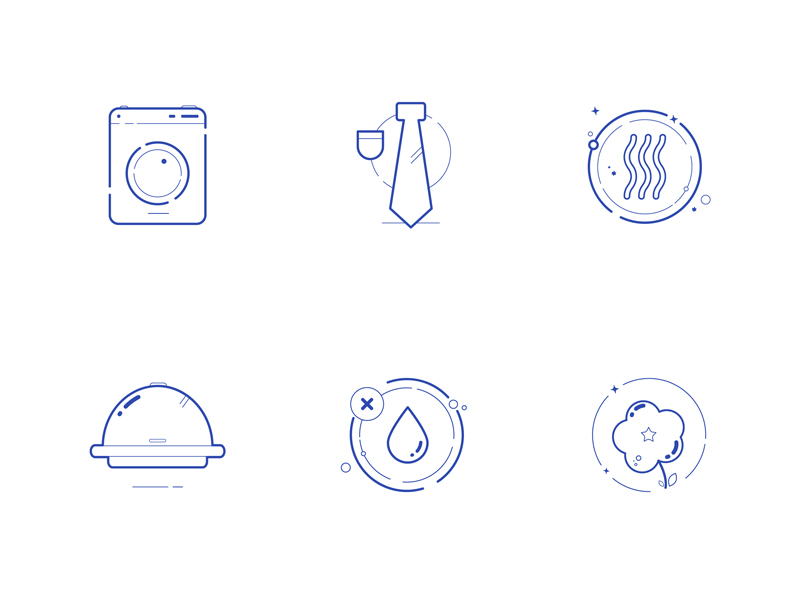 Creative laundry icons by Néographe Factory