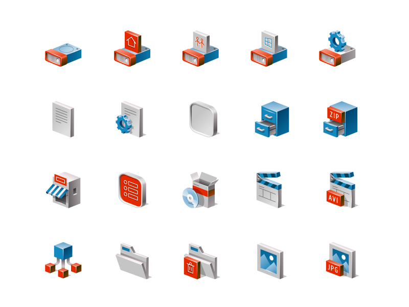 Filetype isometric icons by Mauco Sosa