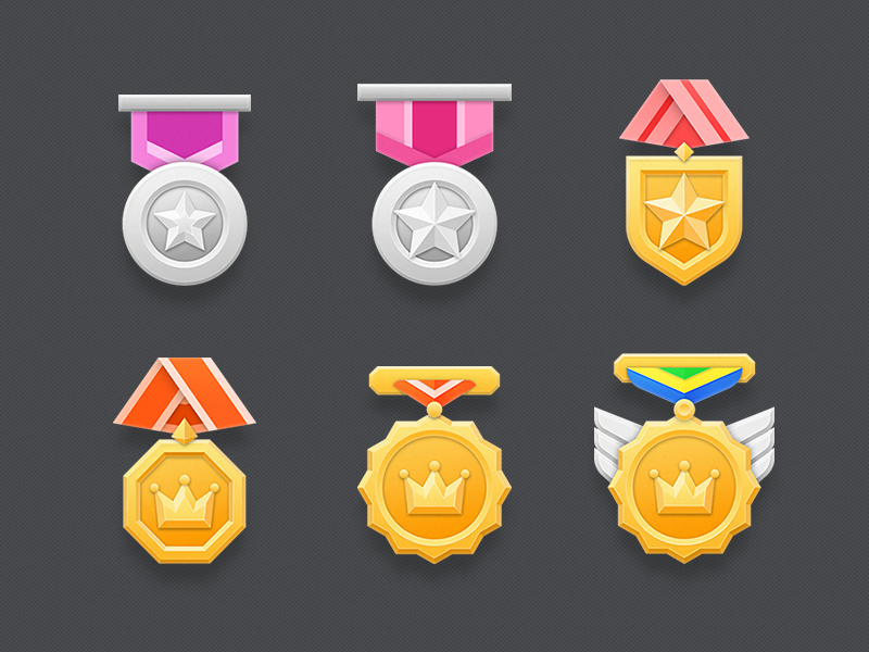 Medal icons by rezzzzzz