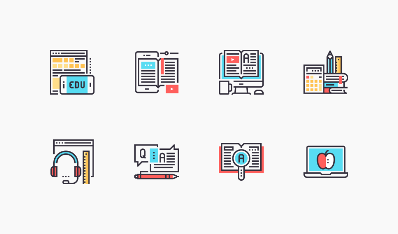 Online Education And E-learning icons by Maxim Basinski