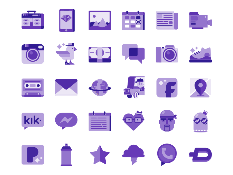 Personalisation icons by Patrick Aere