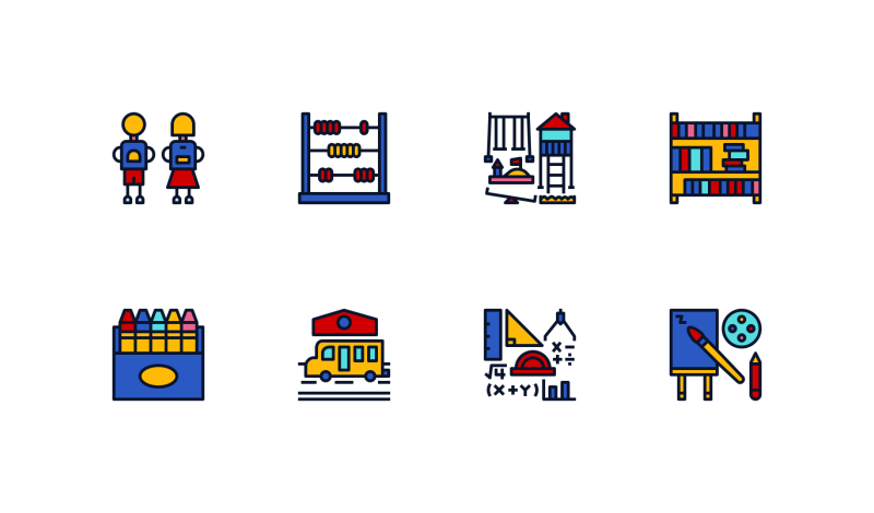 Primary School Color icons by Becris .