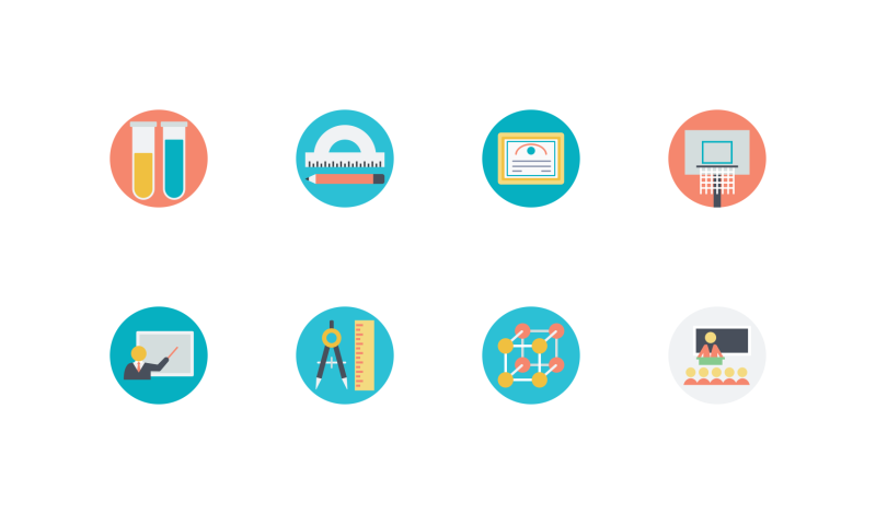 Education icons by Vectors Market