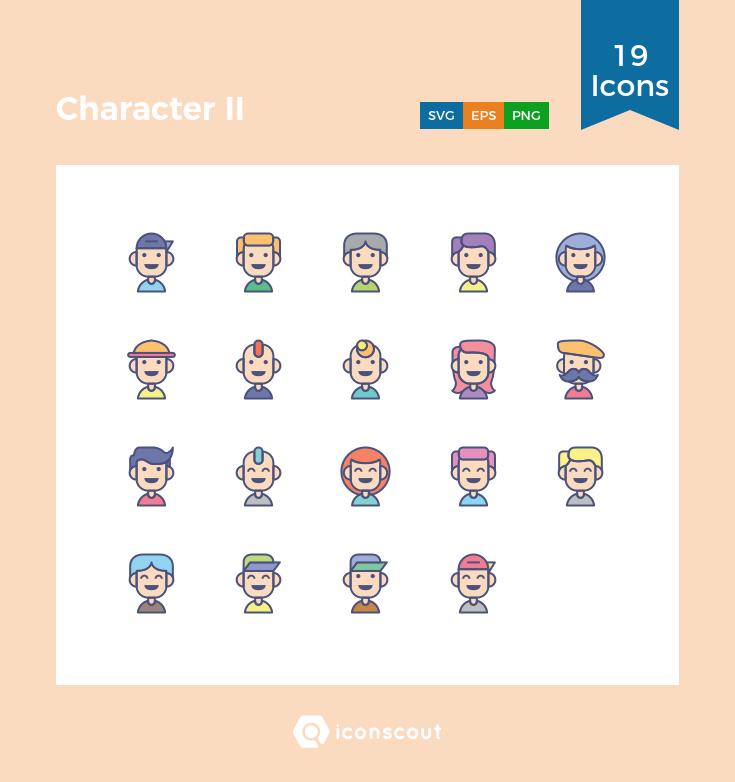Character II icons by Royyan Wijaya