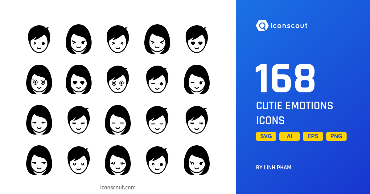 Cutie Emotions icons by Linh Pham