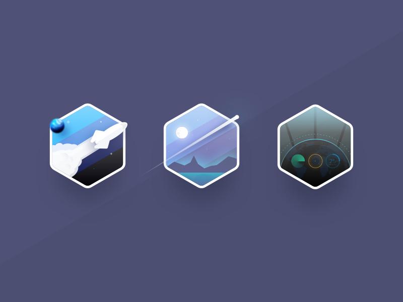 galaxy-sticker-icons-by-michael-adderley
