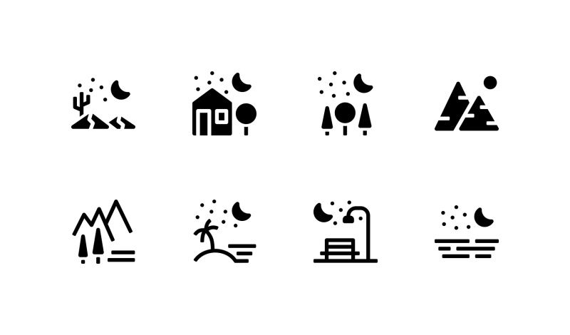 Landscape icons by Andrejs Kirma