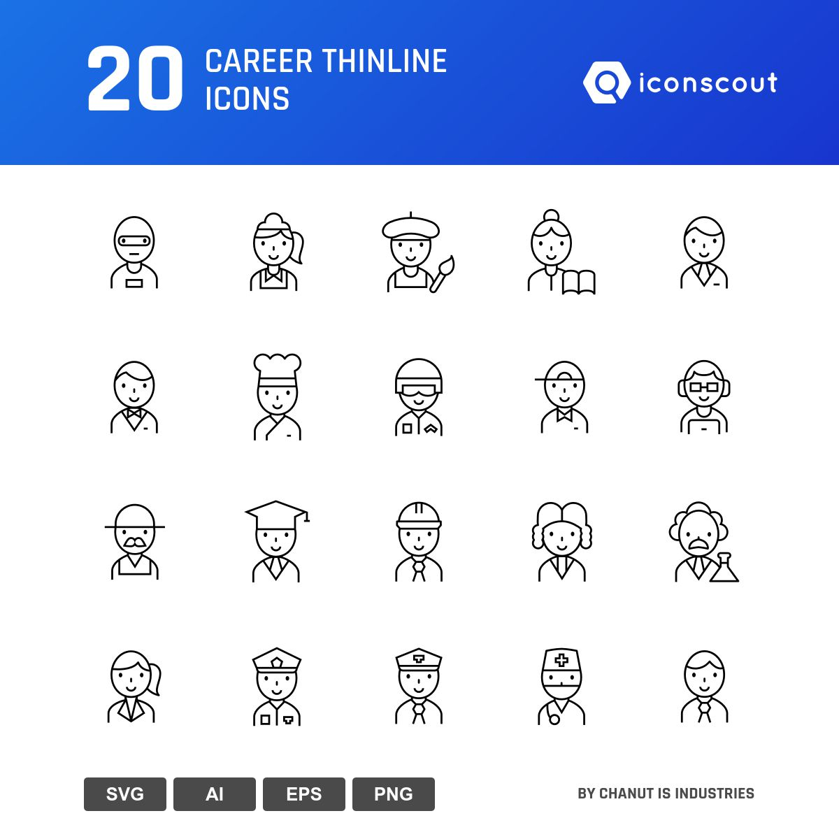 Career Thinline icons by Chanut Is Industries
