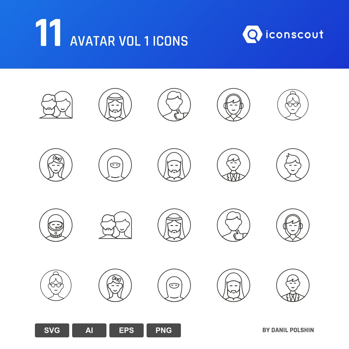Avatar Vol 1 icons by Danil Polshin