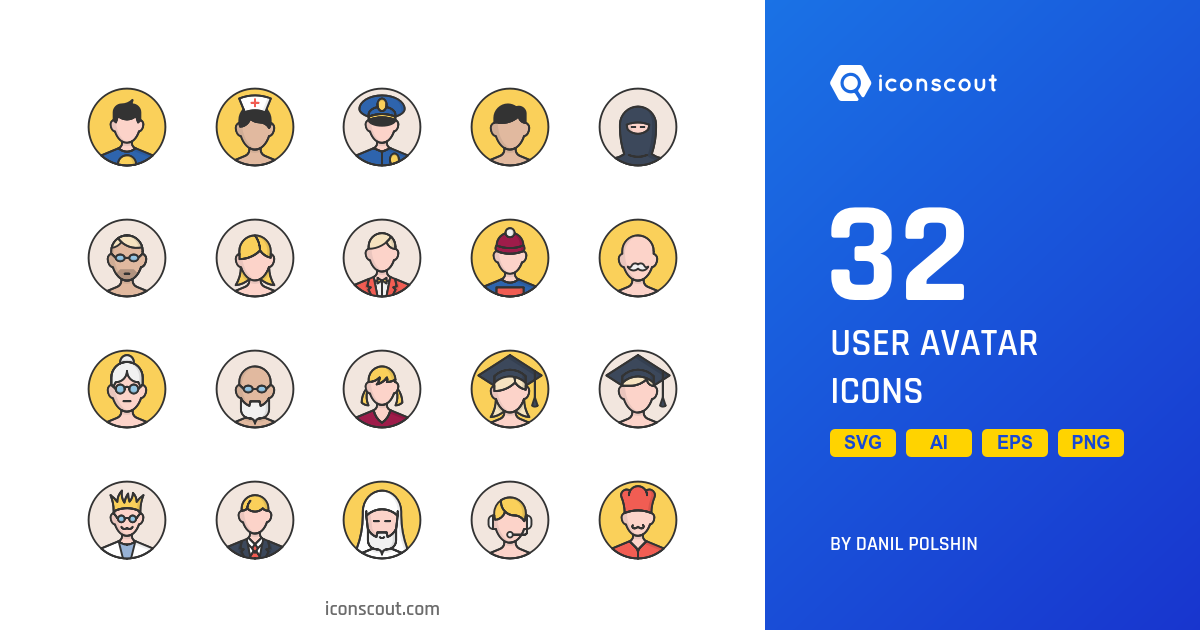 User Avatar icons by Danil Polshin