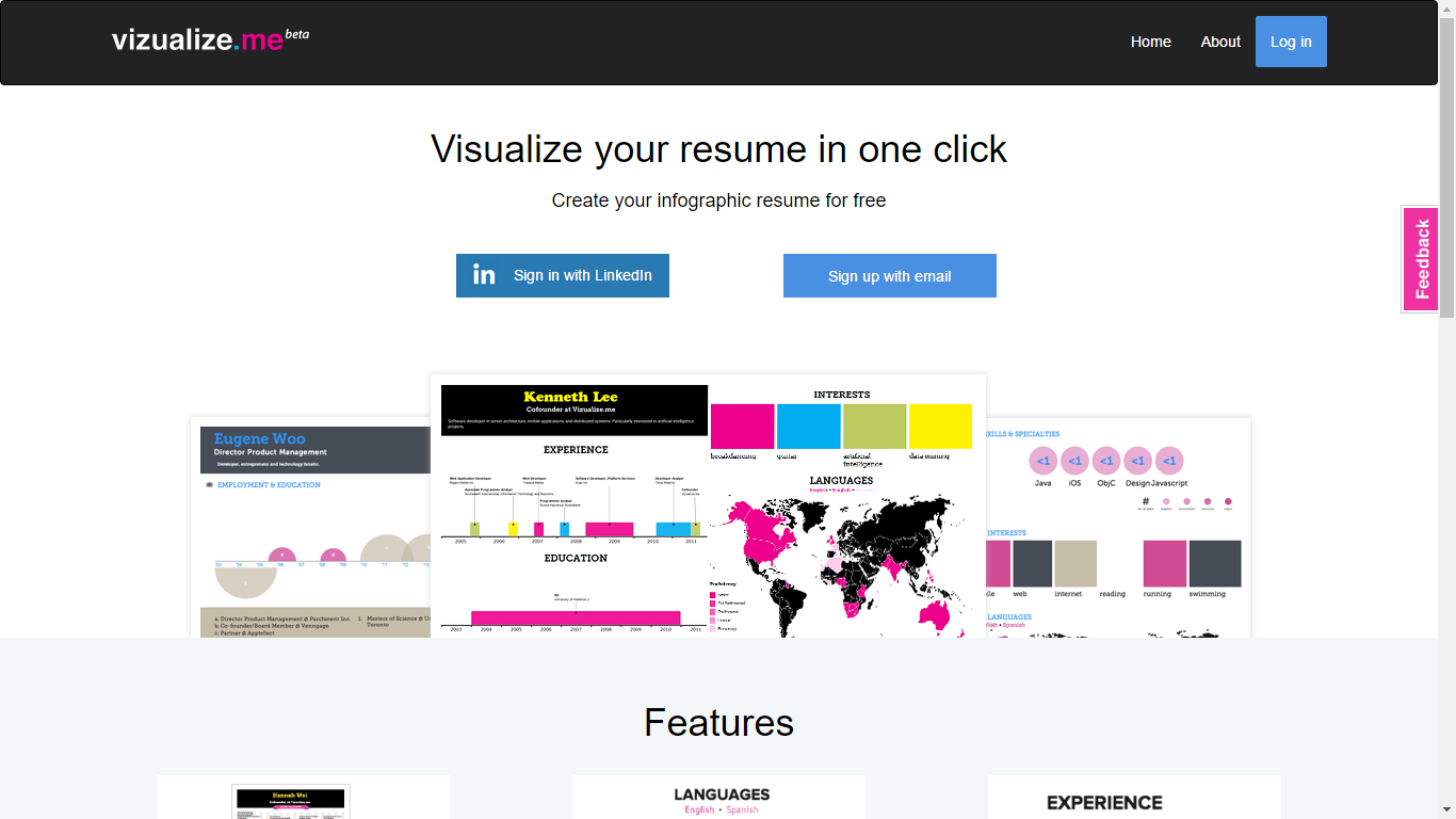 Visualize.me - Visualize your resume in one click