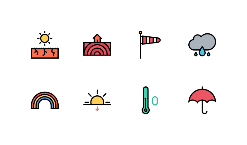 Weather Colored icons by Nikita Golubev