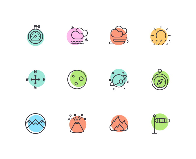 Weather icons by Vignesh Oviyan