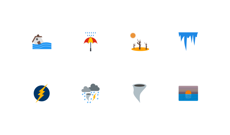 Weather Flat icons by IYIKON ...