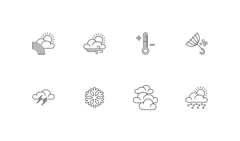 Weather Vol 2 icons by Danil Polshin