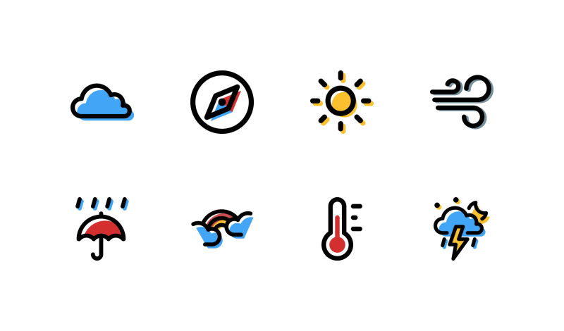 Weather icons by Andrejs Kirma