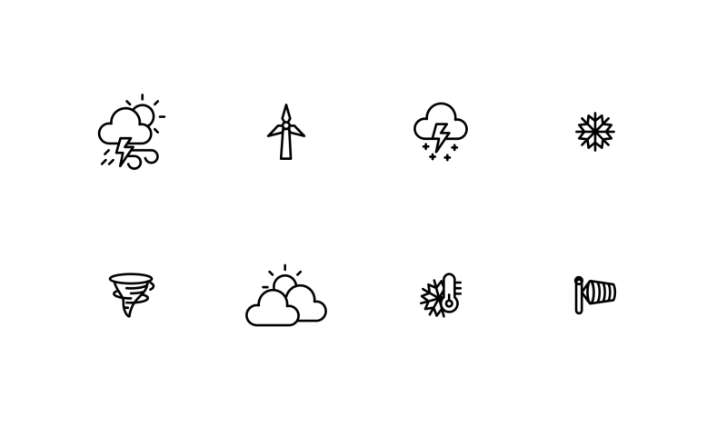 Weather icons by Chamestudio