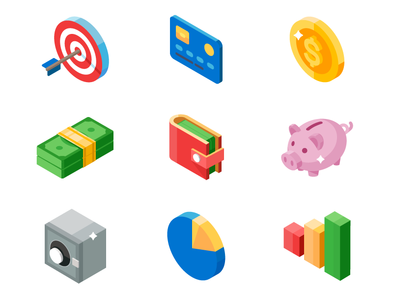 business-and-money-isometric-icons-by-sergey-mudruk