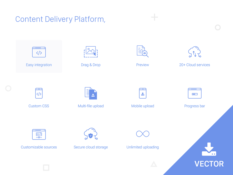 content-delivery-platform-icons-by-arjun-patel