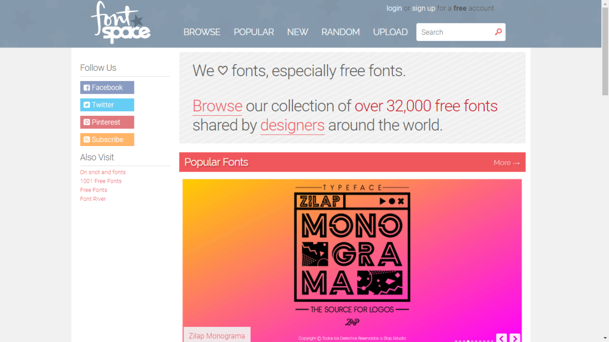Font Space