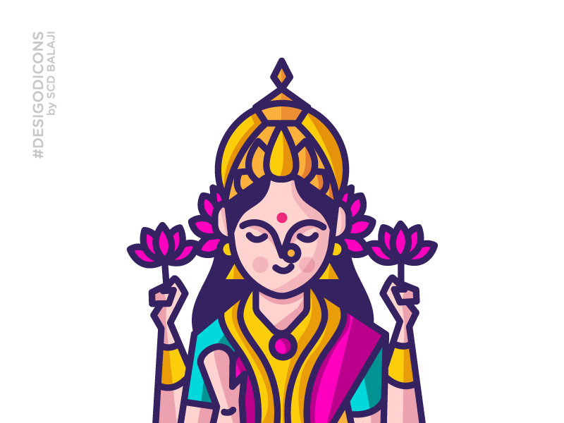 lakshmi-god-illustration-by-scd-balaji