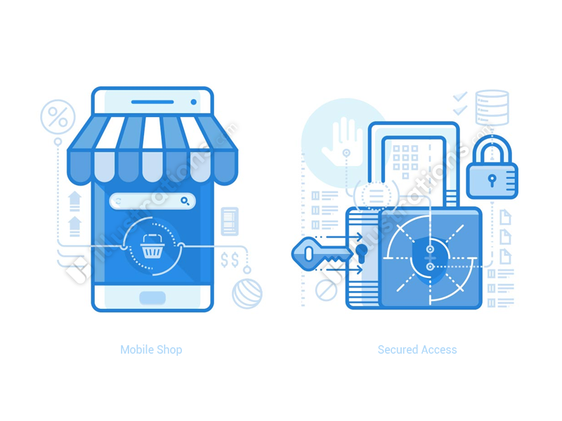 online-shop-and-security-illustration-by-ramy-wafaa