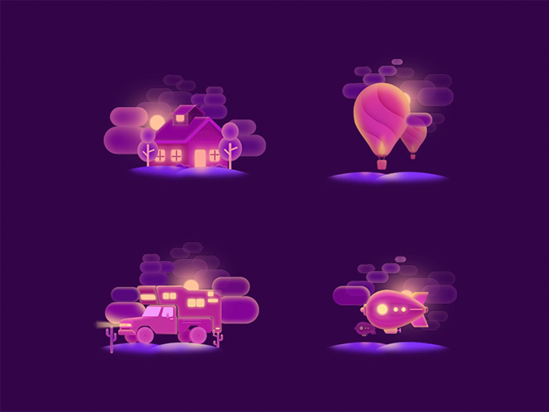 night-icons-by-xiaojianjian