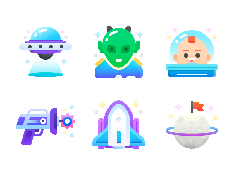 space-flat-icons-by-pavel-kozlov