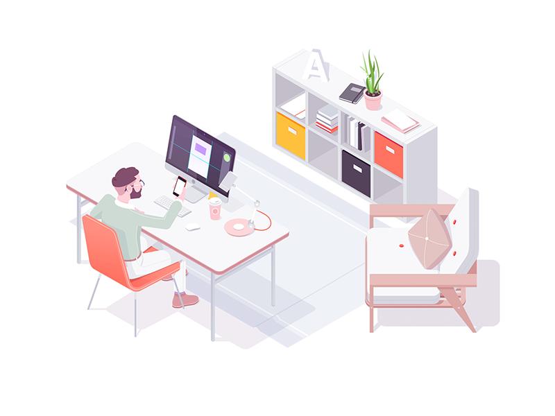 office-illustration-by-igor-kozak