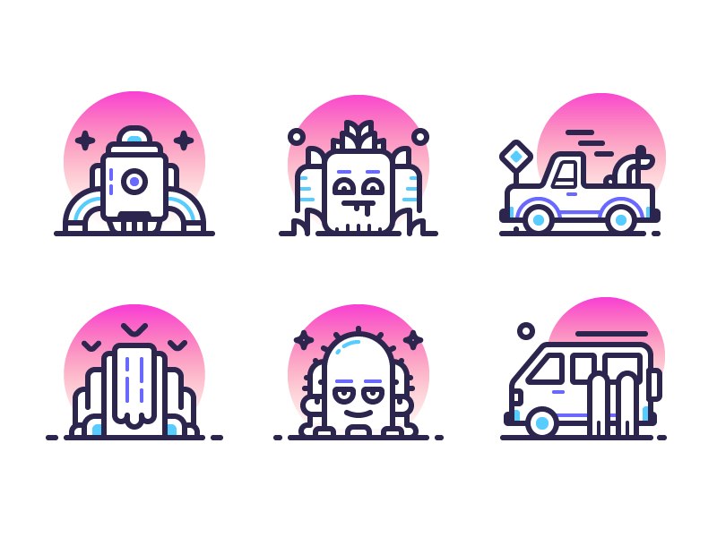 sunset-icons-by-pavel-kozlov